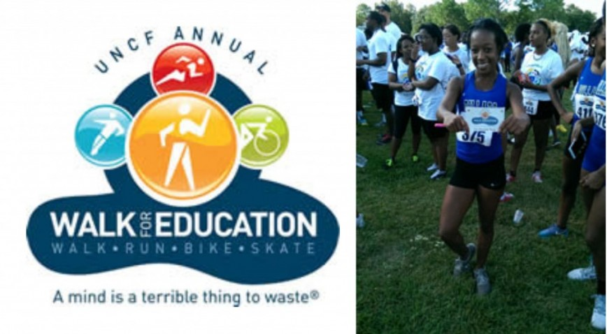 Ebony Darling won 1st Female Teen at the 27th annual UNCF Walk for Education.
