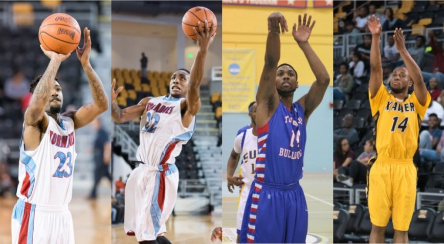 (From left to right) Brandon Peters (Talladega), Shondel Stewart (Talladega), Kelsey Howard (Tougaloo), and Morris Wright (Xa