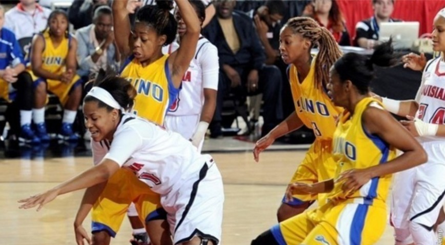 The SUNO Lady Knights held ULL to a season-low 35 percent shooting Saturday at the Cajundome.