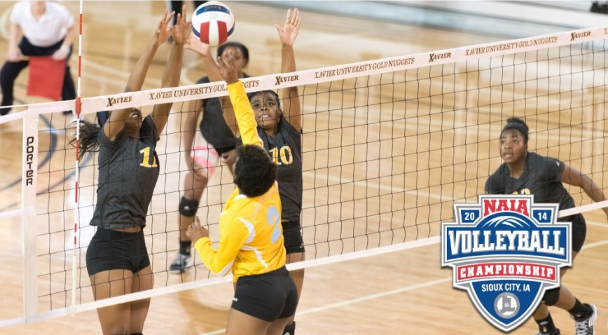 Xavier fell in the first round of the NAIA Volleyball playoffs for the fourth straight season.