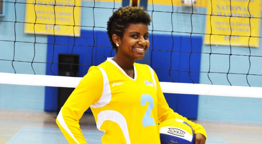 SUNO's Christal Hollins was named Volleyball Player of the Week for the 3rd time this season.