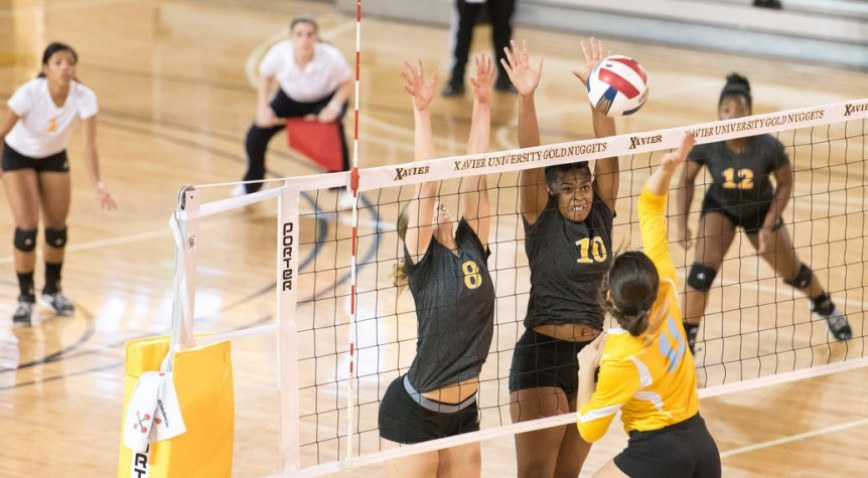 Xavier had a counter for every SUNO attack.  The Gold Nuggets limited the Lady Knights to a .009 hitting percentage on their