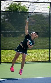 Nour Abbes defeated three NCAA Division I opponents on her way to winning the HBCU tennis singles championship.