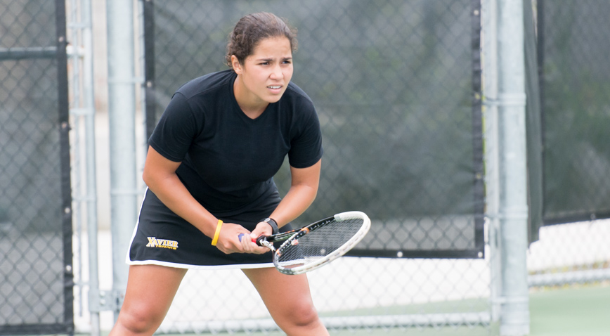 Nour Abbes tasted defeat for the first time in her collegiate career Sunday, losing in the finals of the Small College Tennis