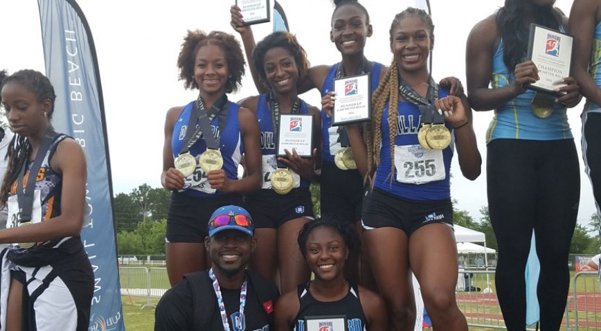 The Lady Bleu Devils 4x400m team finished 2nd in the nation, right behind conference rival SUNO.