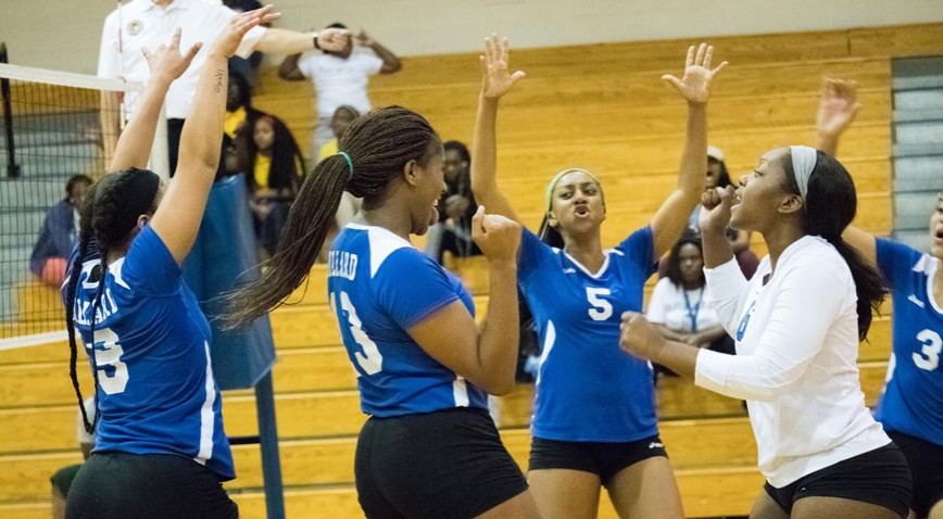 The Lady Bleu Devils advance to the semi-final round of the GCAC tourney.
