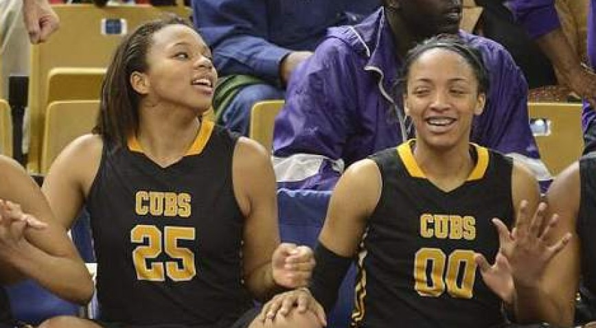 High school teammates Destiny Ephrom (left) and Chelsea Verrett (right) will also be teammates in college at Dillard.