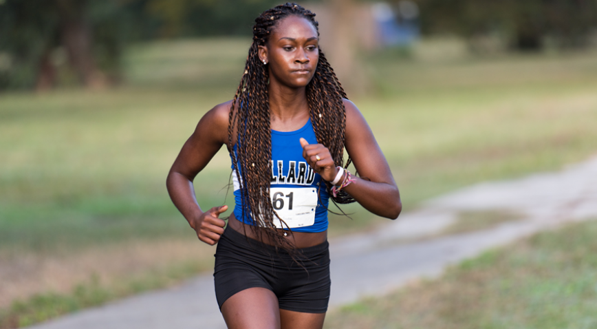 The Lady Bleu Devils finished 3rd at the 2016 Allstate Sugar Bowl Cross Country Festival.